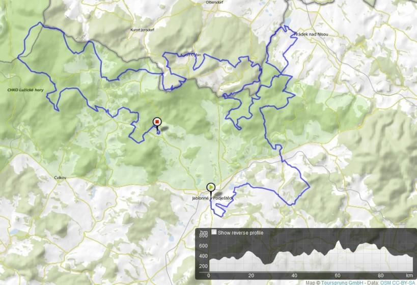 Trasa B – 95 km.