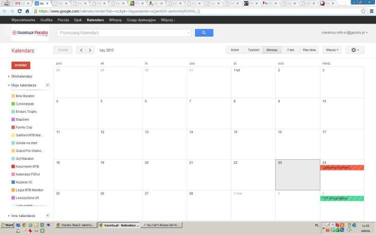 Kalendarz 2013 [Aktualizacja]