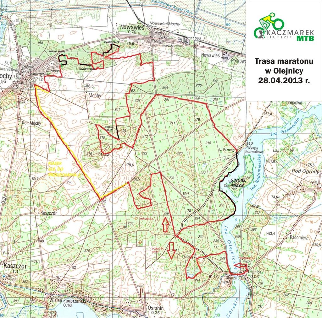kaczmarek mtb electric olejnica mapa trasa 2013