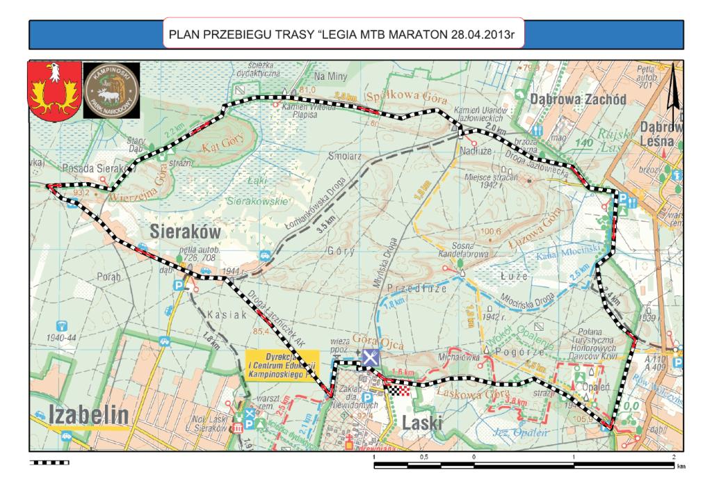 legia mtb maraton 2013 mapa kampinos
