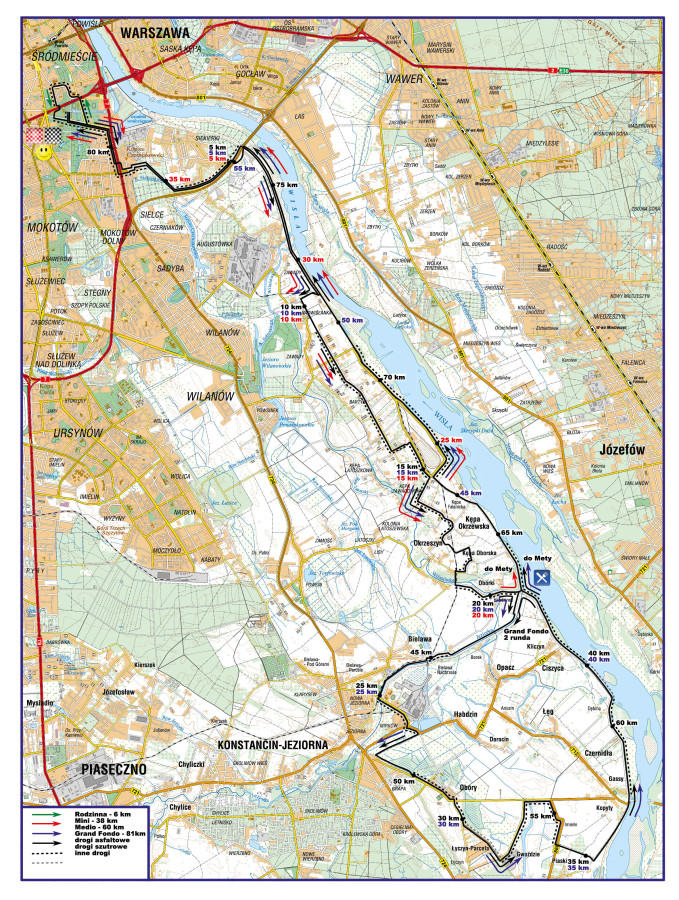 skandia maraton warszawa 2013 trasa mapa