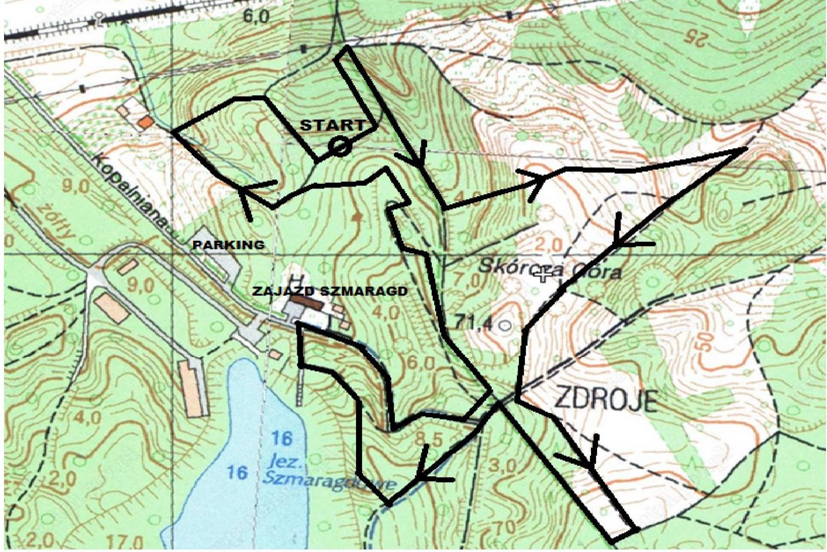 gryf maraton trzy wieze mapa trasa