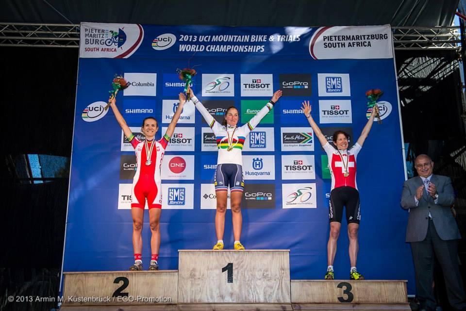 Mistrzostwa Świata MTB XCO RPA Maja Włoszczowska podium