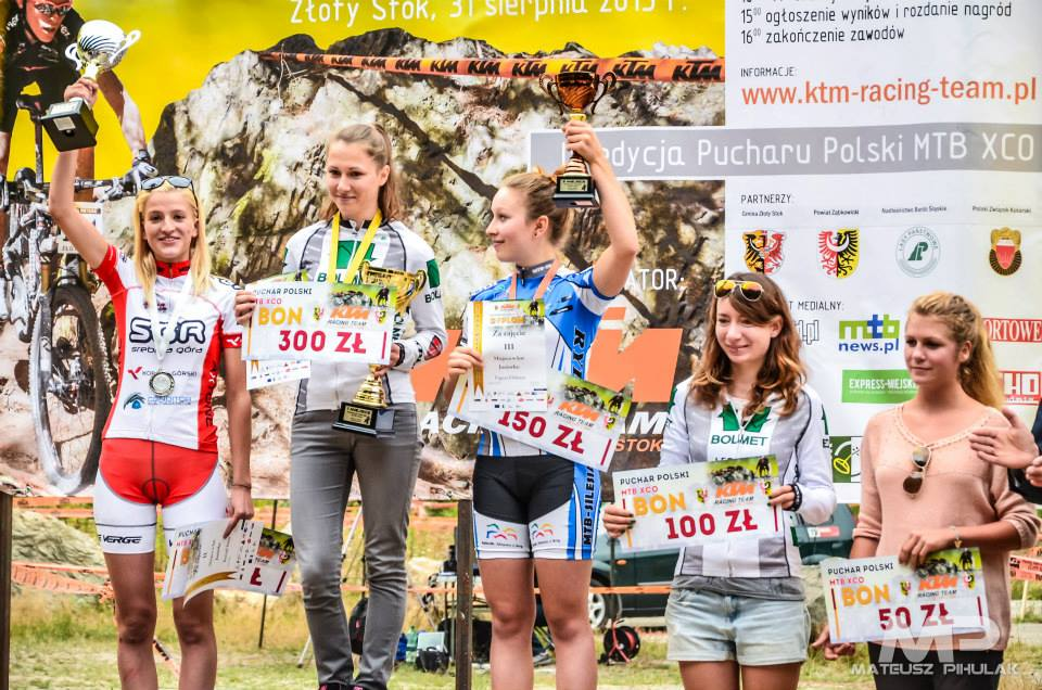 puchar polski mtb złoty stok złota wstęga podium juniorki