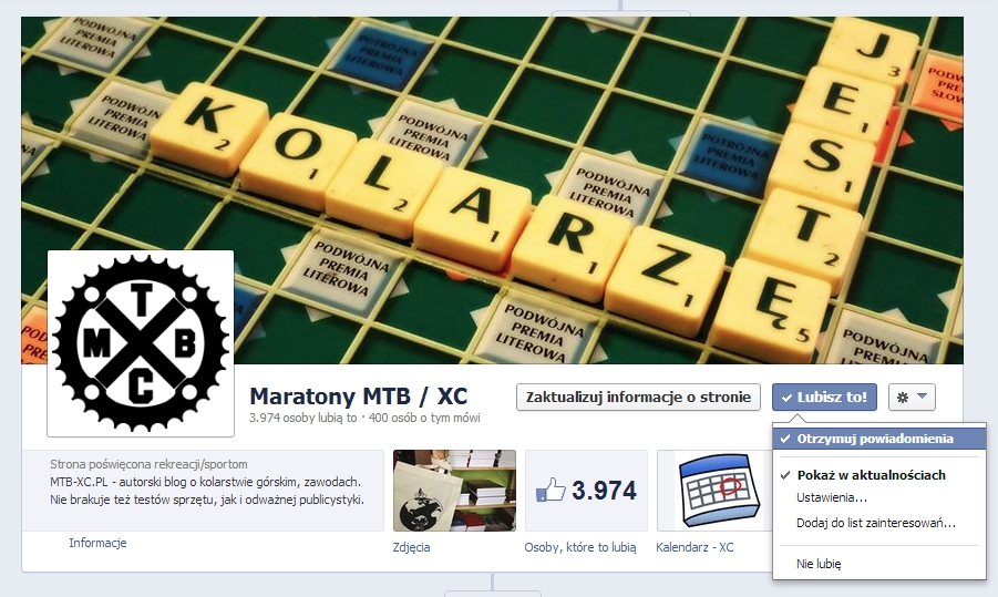 otrzymuj powiadomienia facebook