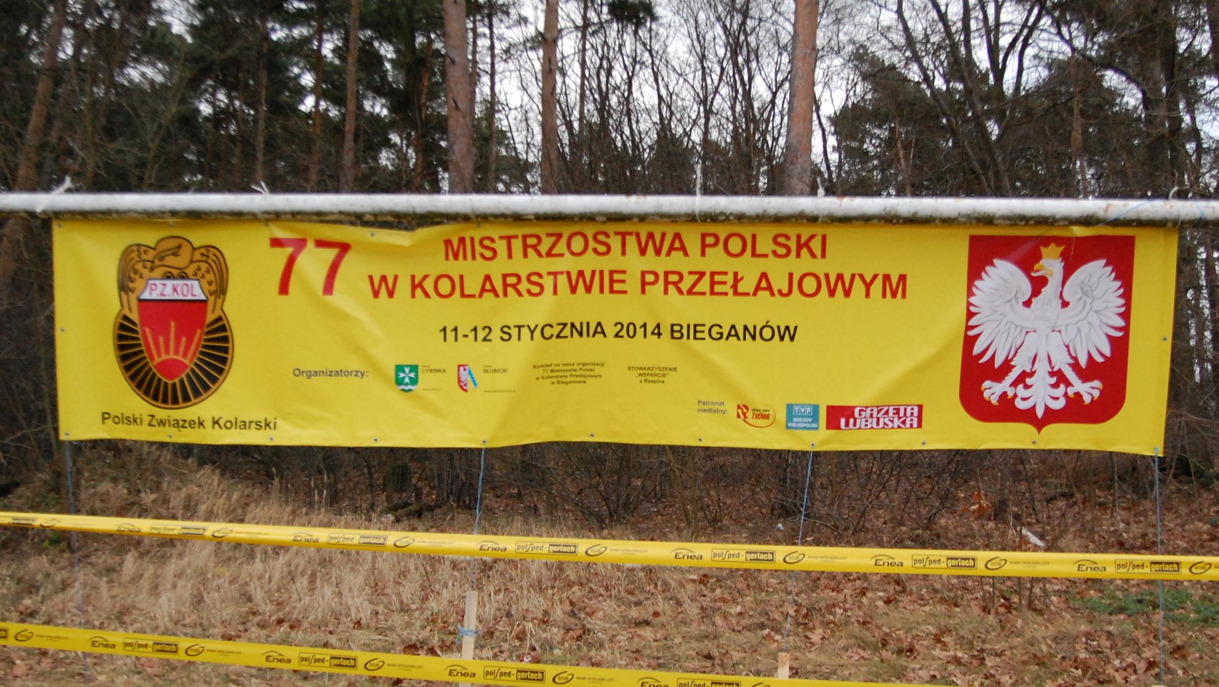 Wyniki – Mistrzostwa Polski w kolarstwie przełajowym 2014 – Bieganów