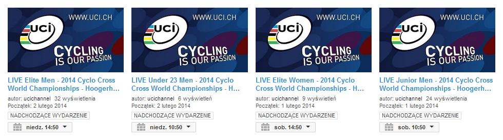 mistrzostwa świata w kolarstwie przełajowym youtube