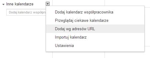google calendar dodaj ical