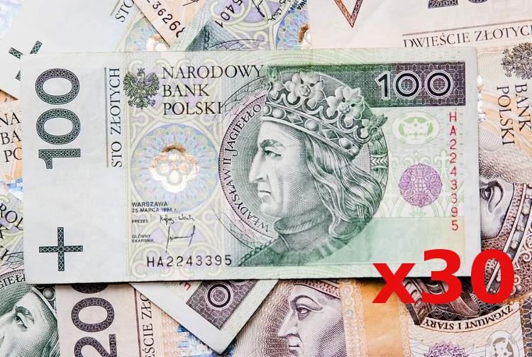 3000 zlotych
