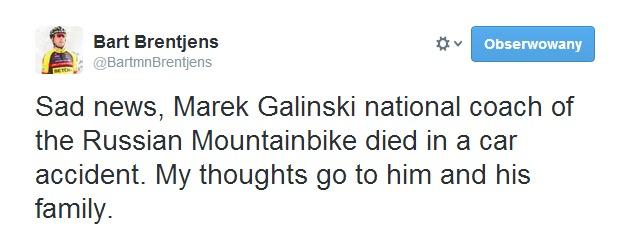 Twitter   BartmnBrentjens  Sad news  Marek Galinski national ...
