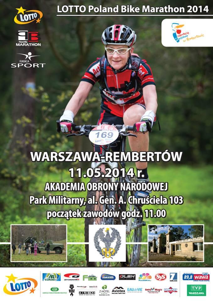 poland bike marathon 2014 rembertów plakat