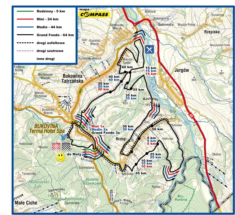 skandia maraton lang team bukowina bukovina mapa trasy