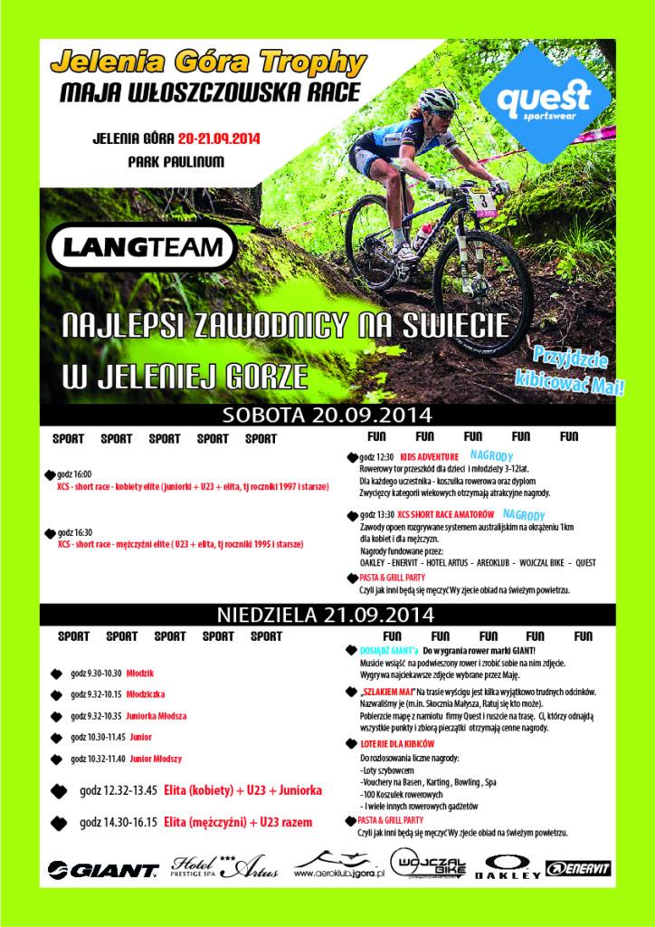 jelenia góra trophy maja włoszczowska race plakat 2014
