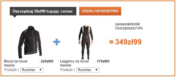 decathlon spodnie bluza rower na zime 500