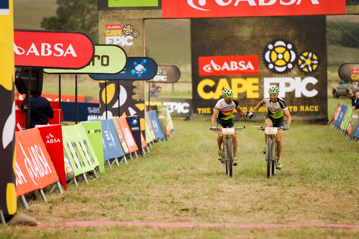 ROBERTSON – during stage 3 of the 2014 Absa Cape Epic Mountain Bike stage race held from Arabella Wines in Robertson to The Oaks Estate in Greyton, South Africa on the 26 March 2014Photo by Gary Perkin/Cape Epic/SPORTZPICS