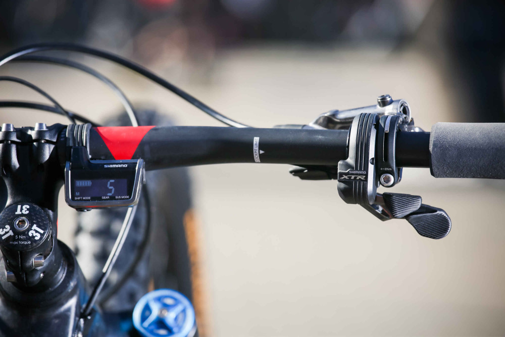 BMC trailfox TF 01 z osprzętem Shimano XTR Di2 04 (mat. pras.)