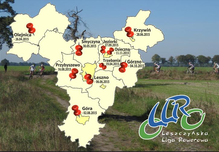 Leszczyńska Liga Rowerowa 2015 [kalendarz]