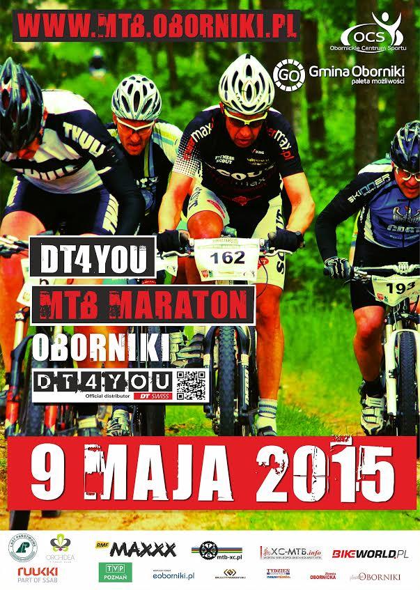 dt 4 you mtb maraton oborniki 2015 plakat