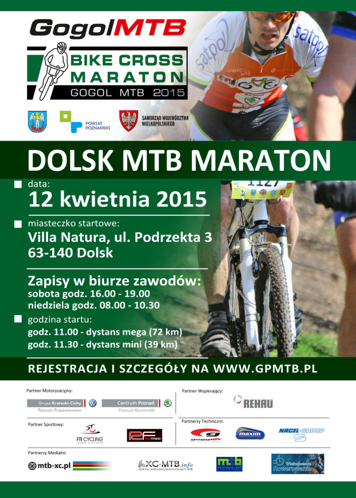 bike cross wielkolpolska mtb gogol plakat dolsk 2015