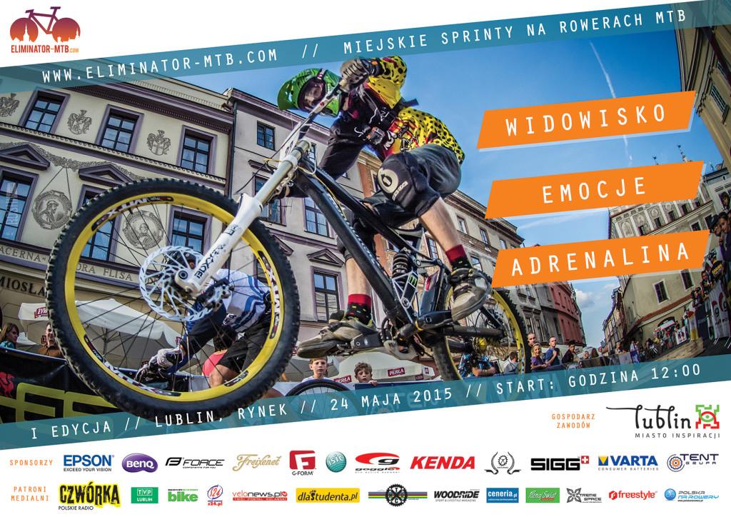 EliminatorMTB - Lublin City Race plakat