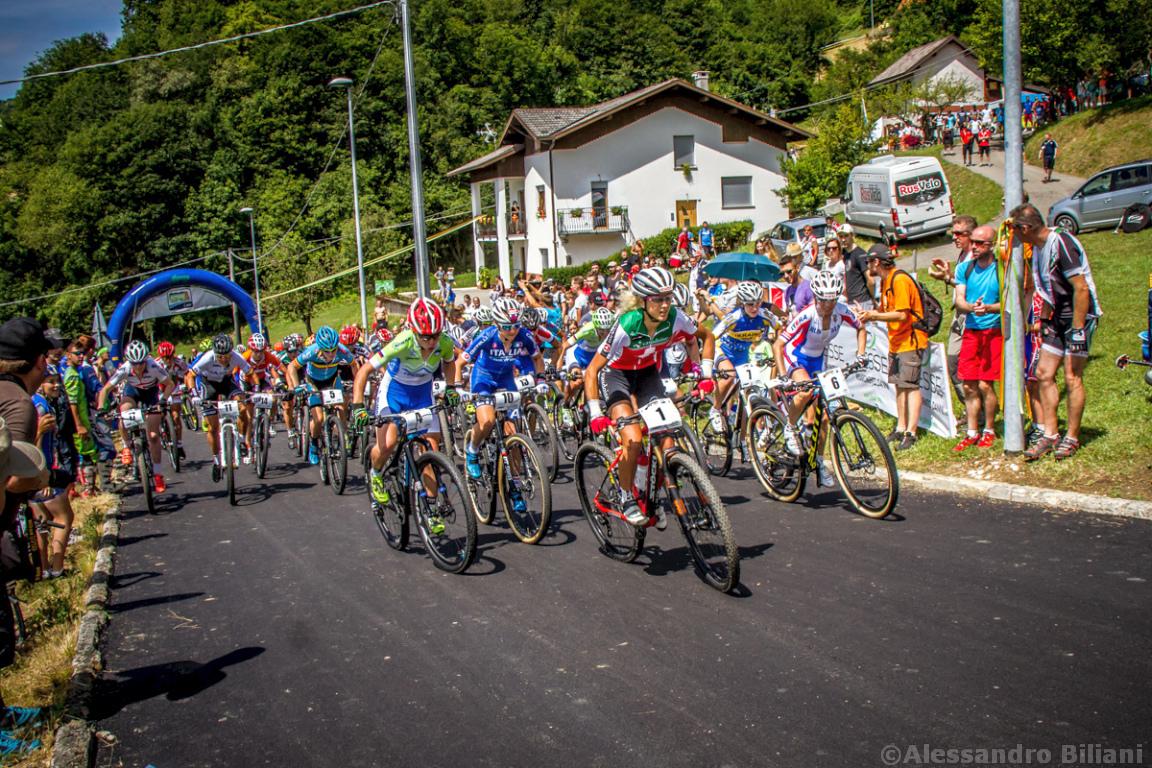 Mistrzostwa Europy MTB 2015 Chies d'Alpago Włochy elita kobiety 002