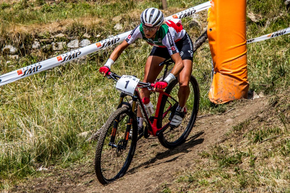 Mistrzostwa Europy MTB 2015 Chies d'Alpago Włochy elita kobiety 008