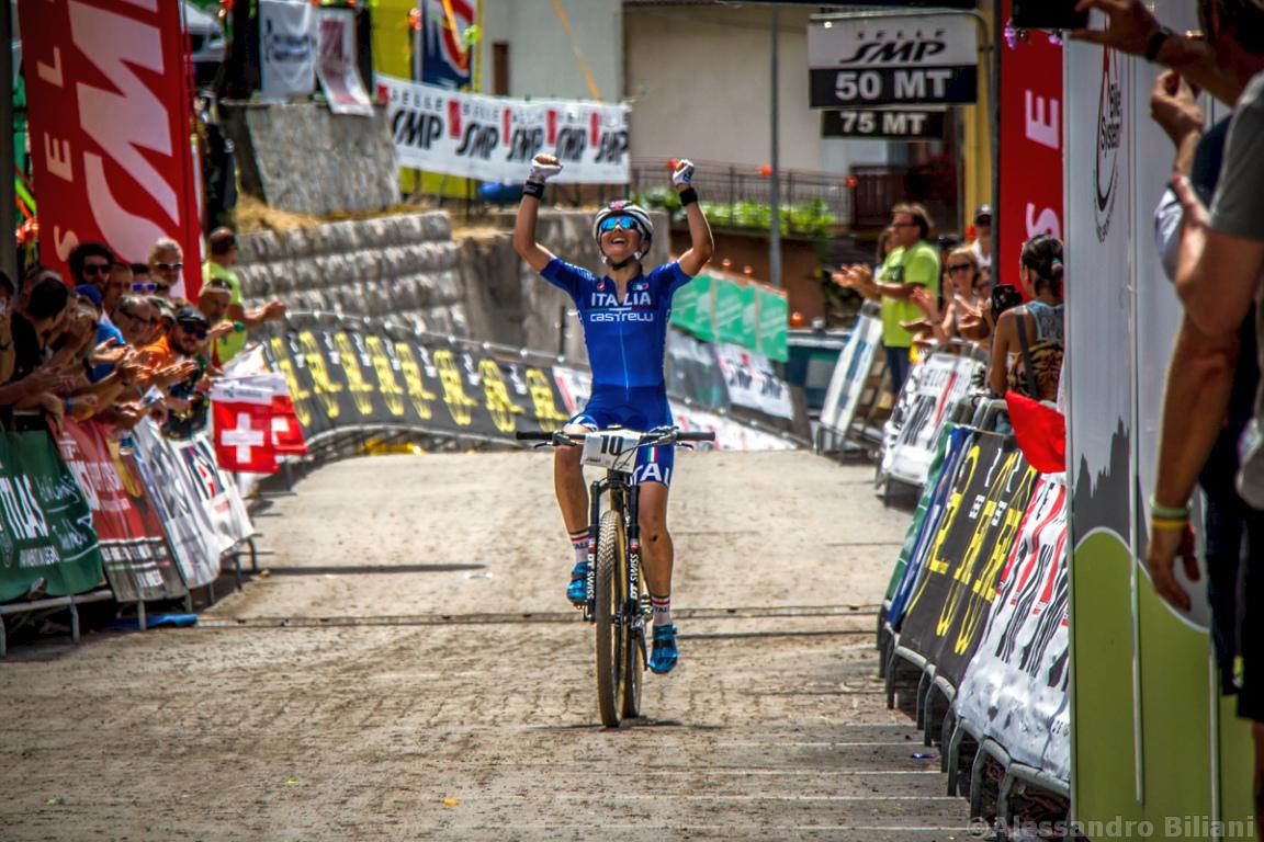 Mistrzostwa Europy MTB 2015 Chies d'Alpago Włochy elita kobiety 021