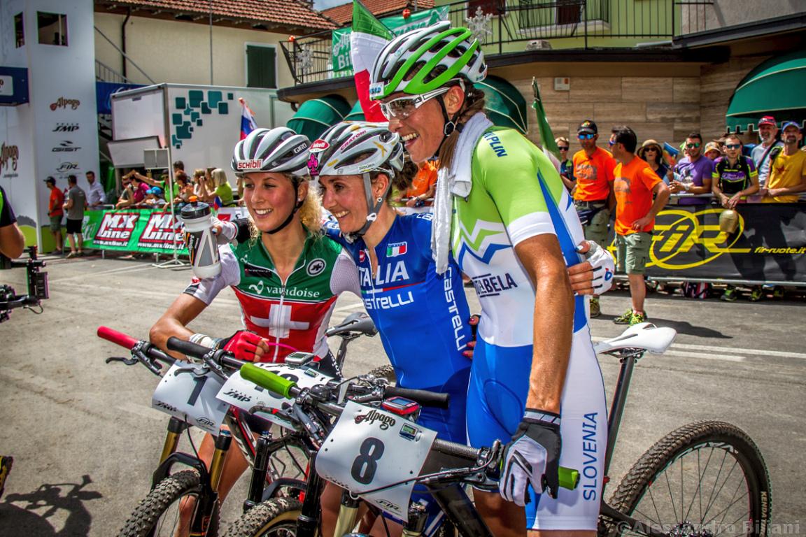 Mistrzostwa Europy MTB 2015 Chies d'Alpago Włochy elita kobiety 025
