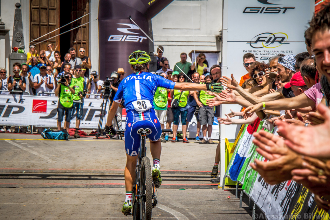 Mistrzostwa Europy MTB 2015 Chies d'Alpago Włochy elita kobiety 026