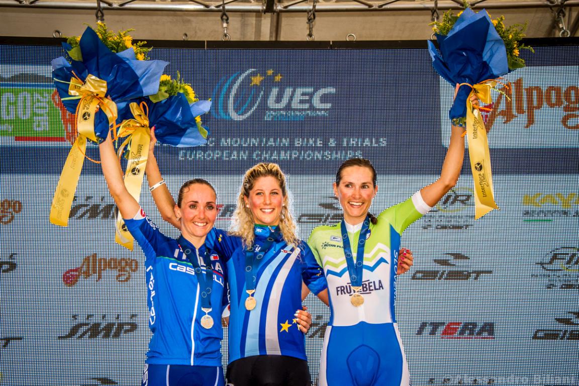 Mistrzostwa Europy MTB 2015 Chies d'Alpago Włochy elita kobiety 028
