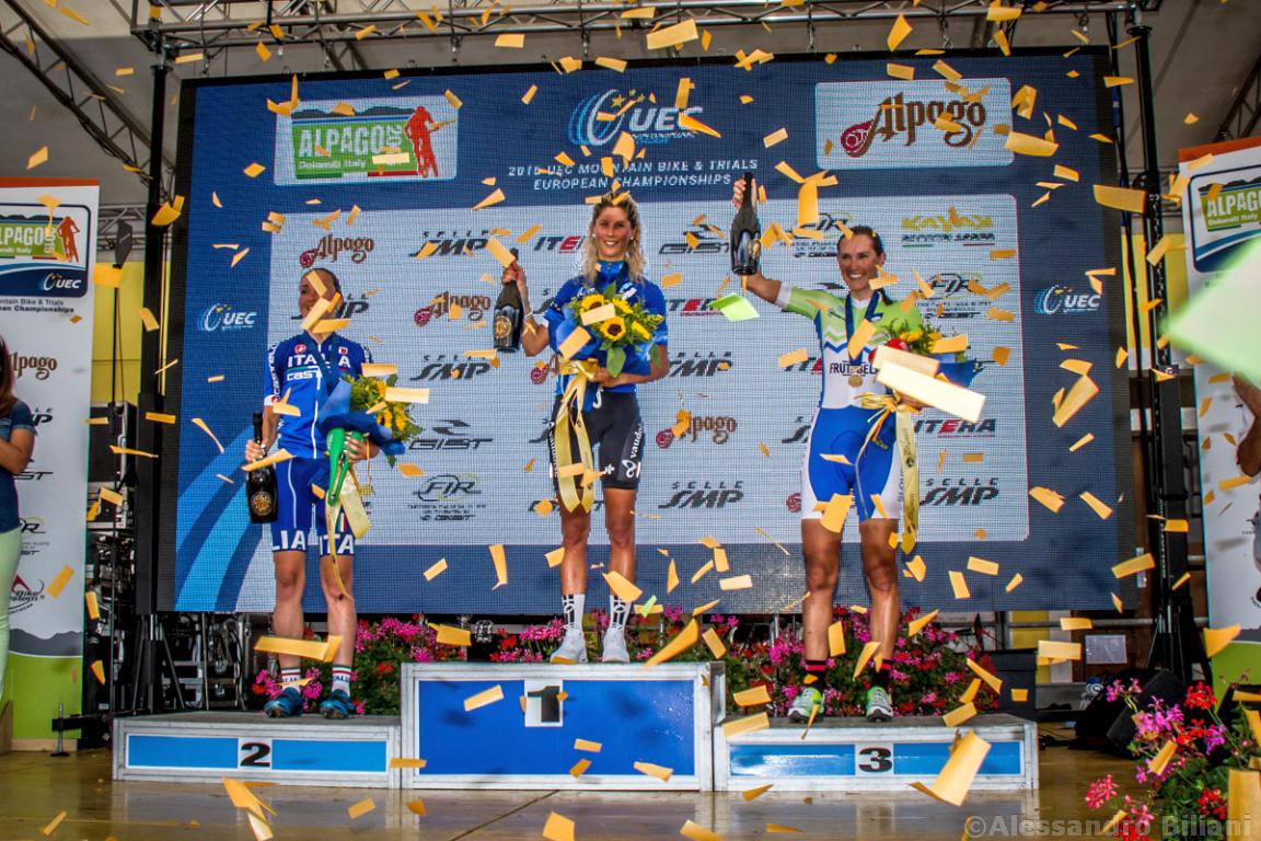 Mistrzostwa Europy MTB 2015 Chies d'Alpago Włochy elita kobiety 033