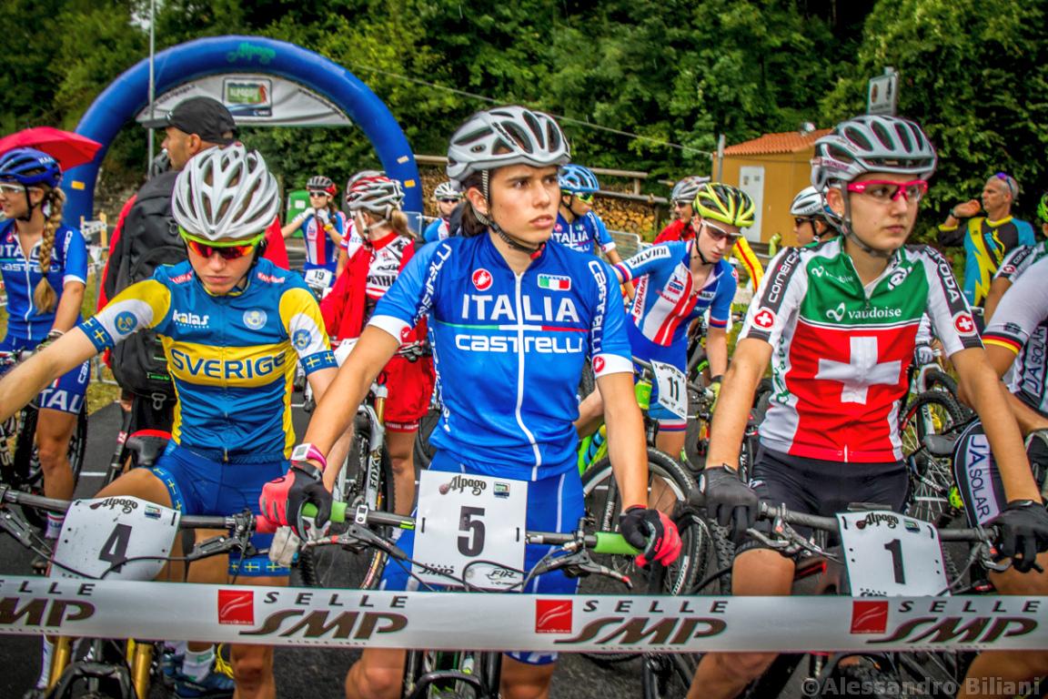 Mistrzostwa Europy MTB 2015 Chies d'Alpago Włochy juniorki 001