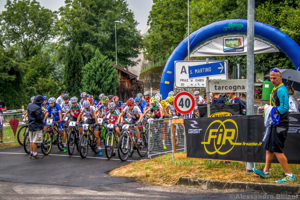 Mistrzostwa Europy MTB 2015 Chies d'Alpago Włochy juniorki 003