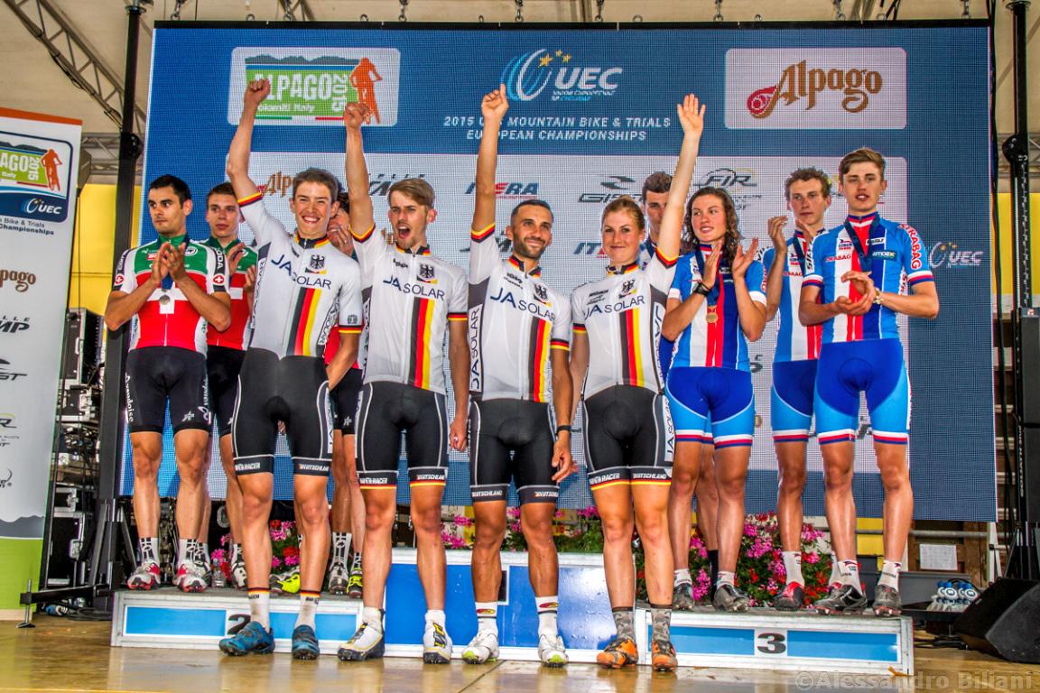 Mistrzostwa Europy MTB 2015 Chies d'Alpago Włochy szrtafeta 045