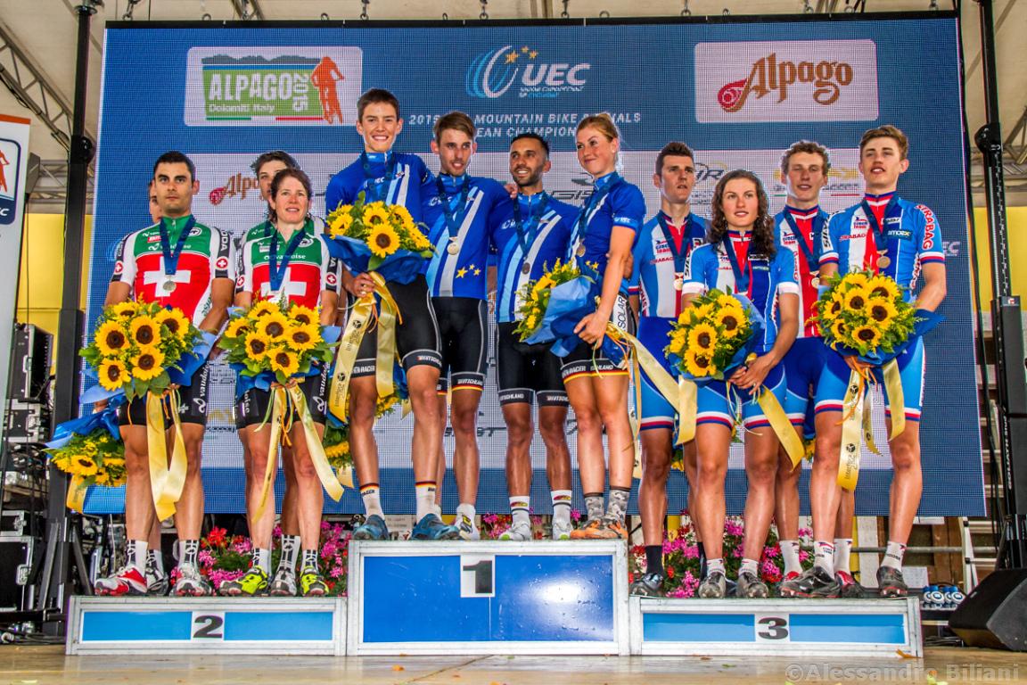Mistrzostwa Europy MTB 2015 Chies d'Alpago Włochy szrtafeta 048