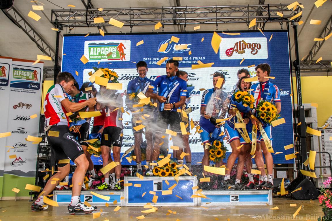 Mistrzostwa Europy MTB 2015 Chies d'Alpago Włochy szrtafeta 049