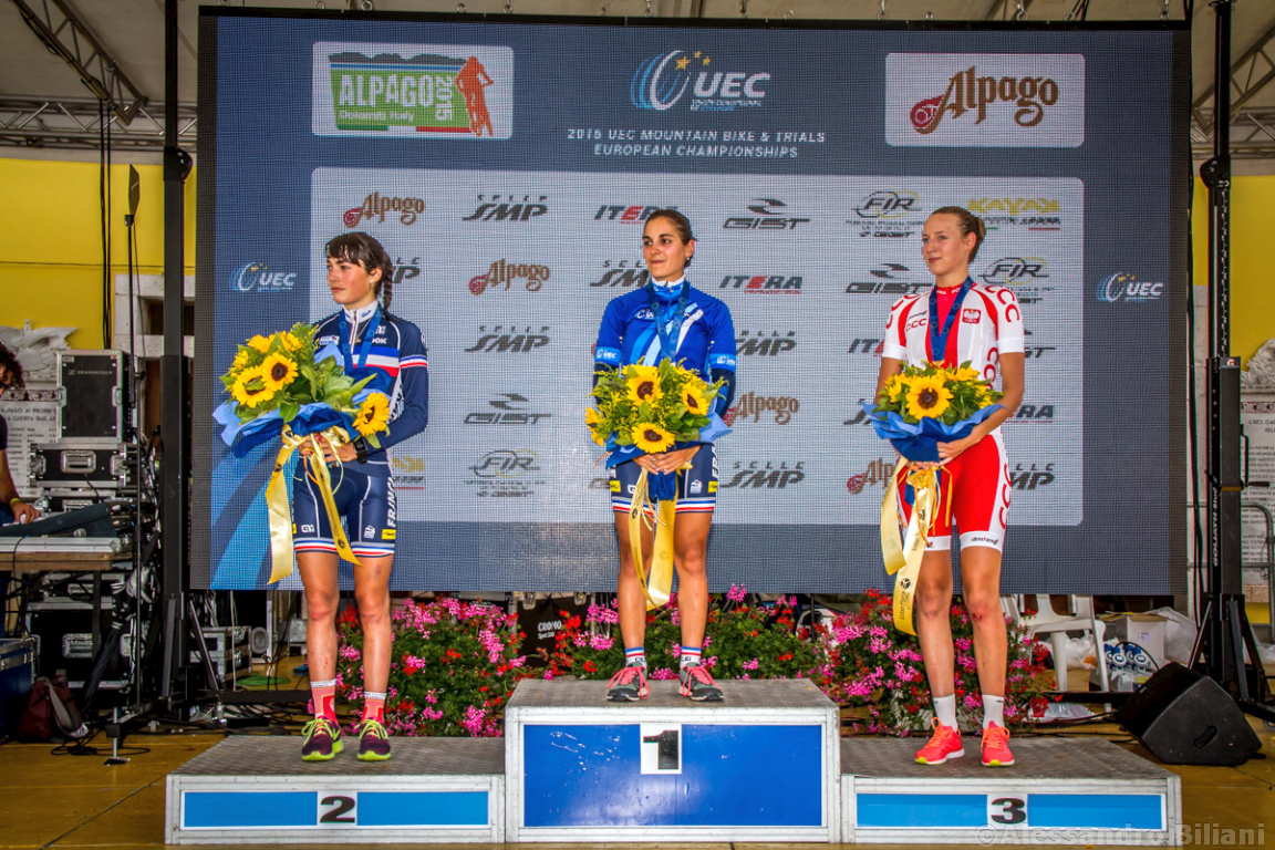 Mistrzostwa Europy MTB 2015 Chies d'Alpago Włochy u23 kobiety orliczki 021