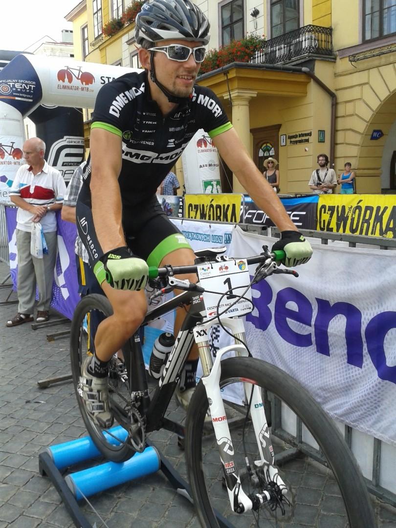 Tomasz Dygacz (DMG Mori Cyclo Trener) – Eliminator MTB – Cieszyn  rozgrzewka