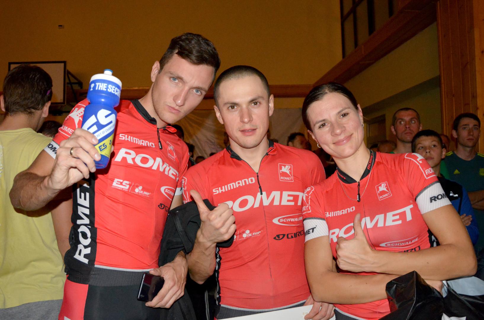 Bartosz Janowski Dominik Grządziel Katarzyna Polakowska (Romet Racing) - Bike Maraton - Świeradów Zdrój