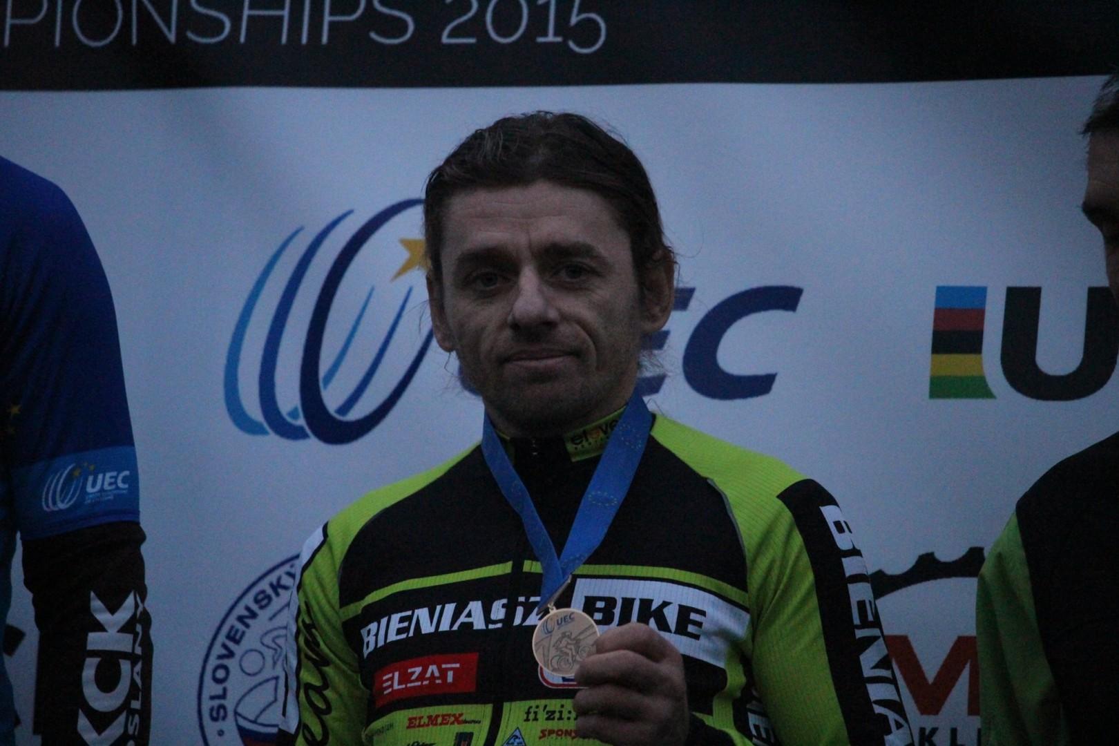 Mirosław Bieniasz (KCP Elzat Bieniasz Bike) – Mistrzostwa Europy CX Masters – Trnava, Słowacja