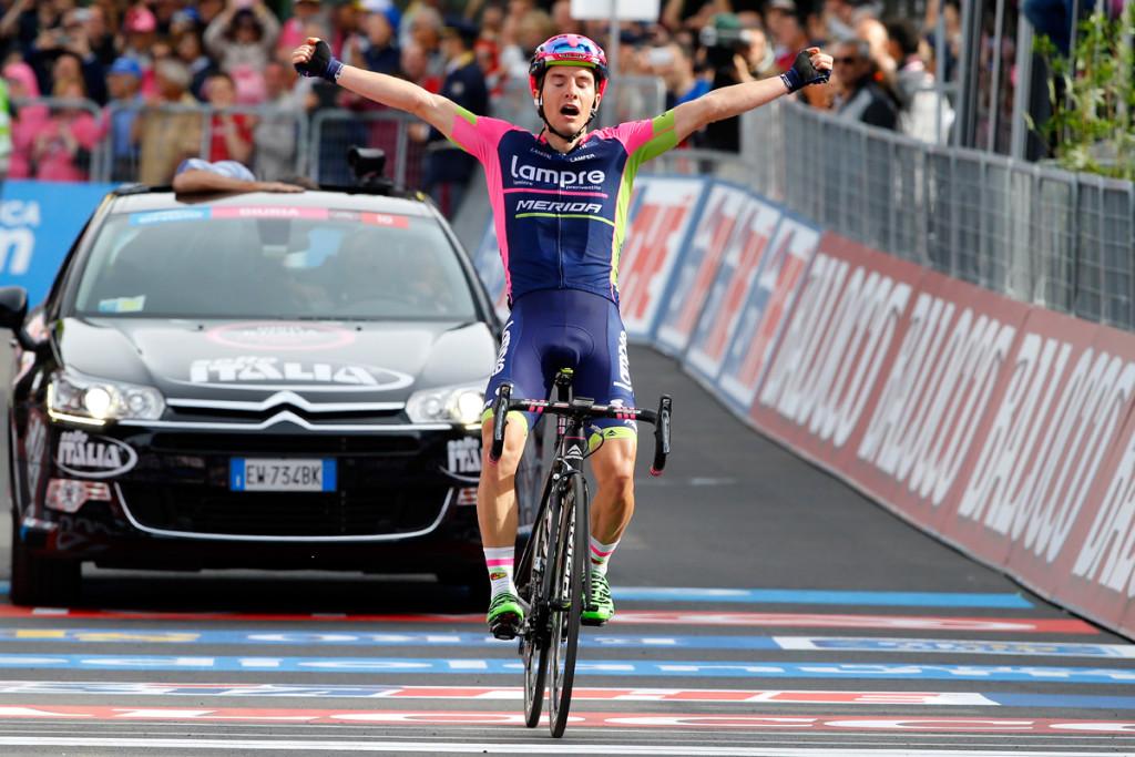 Giro d' Italia 2015 - 98a Edizione - 5a tappa La Spezia - Abetone 152 km - 13/05/2015 - Jan Polanc (Lampre - Merida) - foto Luca Bettini/BettiniPhoto©2015