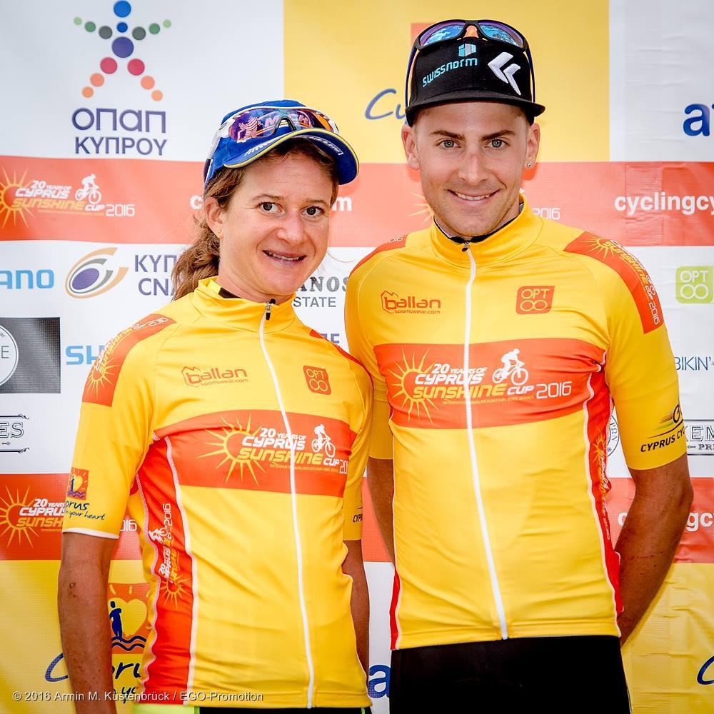 cyprus sunshine cup 2016 afxentia 3 adelheid morath bh sr suntour kmc fabian giger kross racing team leader yellow jersey