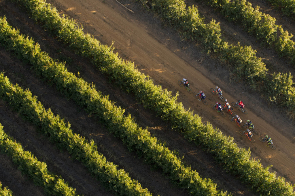 Riders during stage 1 of the 2016 Absa Cape Epic Mountain Bike stage race held from Saronsberg Wine Estate in Tulbagh, South Africa on the 14th March 2016Photo by Gary Perkin/Cape Epic/SPORTZPICSPLEASE ENSURE THE APPROPRIATE CREDIT IS GIVEN TO THE PHOTOGRAPHER AND SPORTZPICS ALONG WITH THE ABSA CAPE EPIC{ace2016}