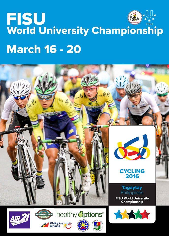 fisu world university championships tagaytay philipines cycling 2016 poster
