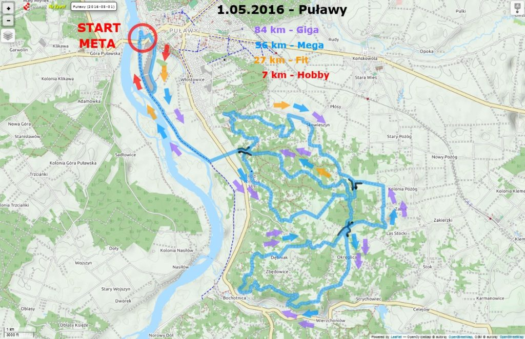Mazovia_Puławy 2016 mapa trasa