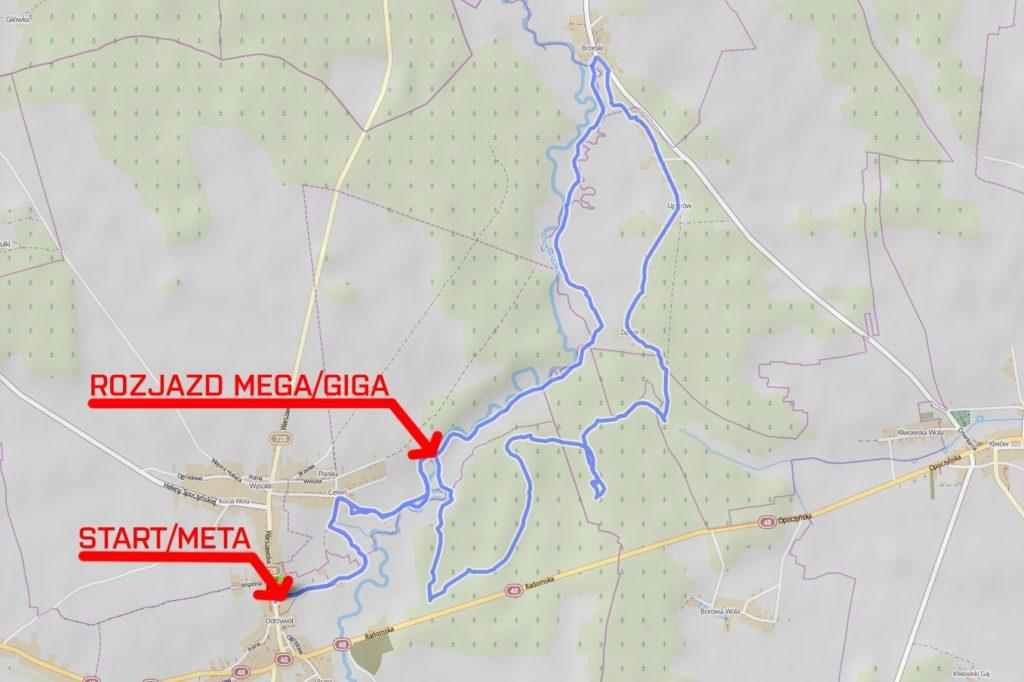 mtb opoczno odrzywół 2016 trasa
