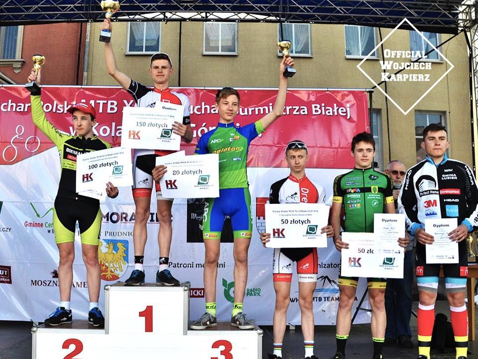 Wojciech Karpierz (UKS Dream Bike Bielawa) -Puchar Polski XCO, Biała