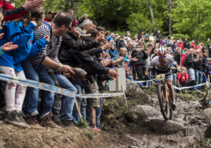 Julien Absalon performs at the UCI XCO World Tour in La Bresse, France on May 29th, 2016