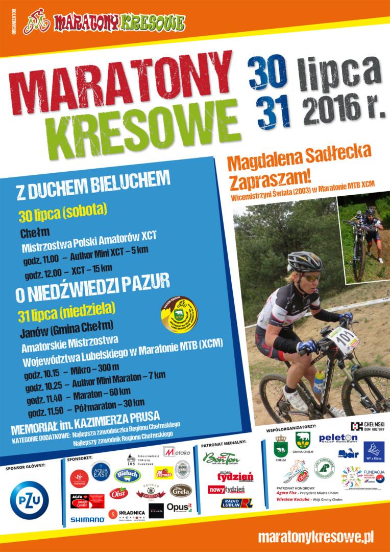 Maratony Kresowe zapraszają na Mistrzostwa Polski Amatorów XCT plakat