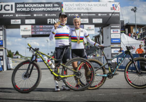 XCO World Championships Nove Mesto_Action Image_2016_BIKE_SCOTT Sports_nino schurter jenny rissveds